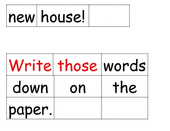 Sentences with High Frequency Words from Trophies Book 4