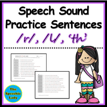 Sentences with R, Th, and L sounds