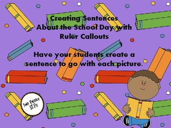 Sentences with Ruler Callouts (School activities)