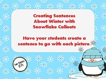 Sentences with Snowflake Callouts