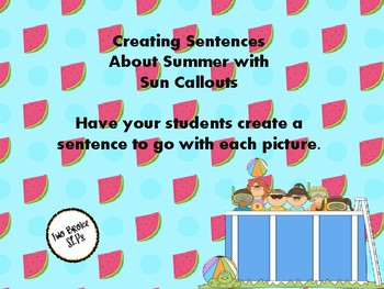 Sentences with Sun Callouts