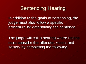 Sentencing Options and Considerations (Canadian Law)