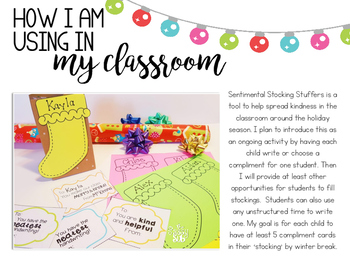 Sentimental Stocking Stuffers: Spreading Kindness in the Classroom