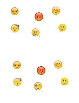 Sentimientos Feelings Emoji Practice
