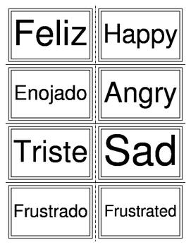 Sentimientos (flash cards)