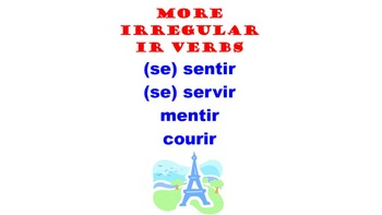 Sentir, Servir, Mentir, Courir (Irregular IR verbs) : French Quick Lesson