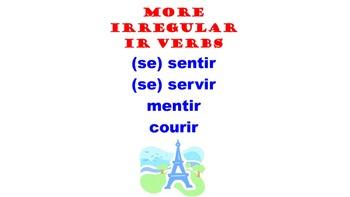 Sentir, Servir, Mentir, Courir (Irregular IR verbs) : Fren