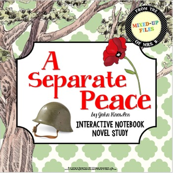 Separate Peace Interactive Notebook