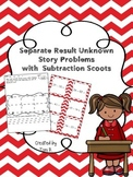 Separate Result Unknown Story Problems with Subtraction Scoots