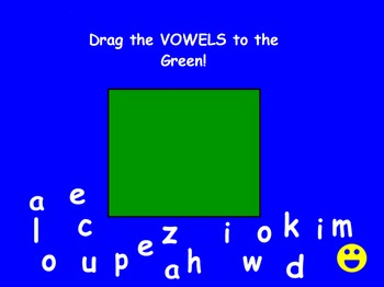 Separate Vowels from Consonants with Lower Case Letters Promethean Activity