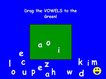 Separate Vowels from Consonants with Lower Case Letters Pr