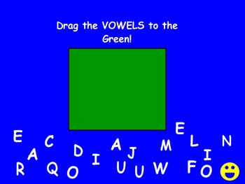 Separate Vowels from Consonants with Upper Case Letters Promethean Activity