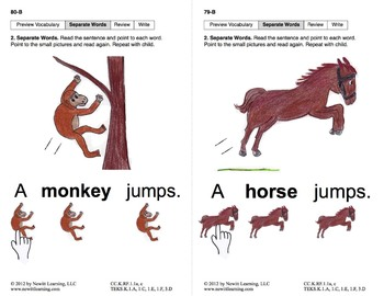 Separate Words in Sentences: Lesson 7, Book 1 (Newitt Prereading Series)
