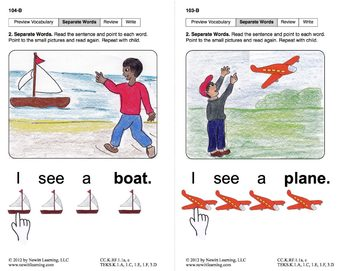 Separate Words in Sentences: Lesson 9, Book 1 (Newitt Prereading Series)