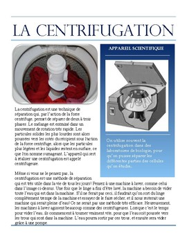 Separating Mixtures- Centrifugation French Immersion text