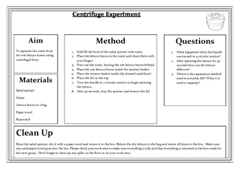 Separating Mixtures - Centrifuge Experiment in a Box