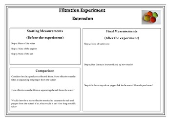 Separating Mixtures - Filtration in a Box