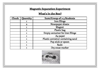 Separating Mixtures - Magnetic Separation in a Box