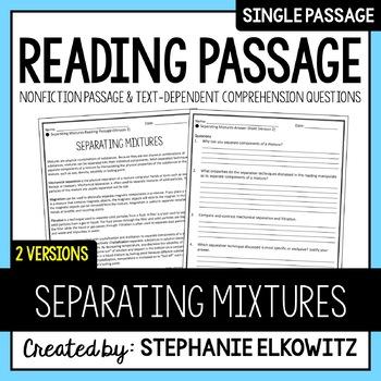 Separating Mixtures Reading Passage