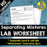 Separating Mixtures Lab Worksheet