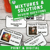 Separating Mixtures and Solutions Discussion Task Cards