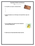 Separating Solutions and Mixtures Test