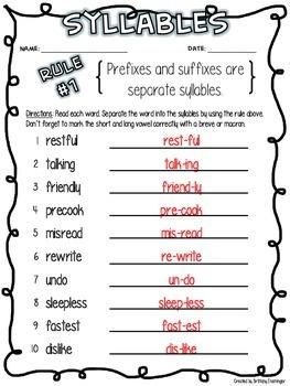 Separating Syllables