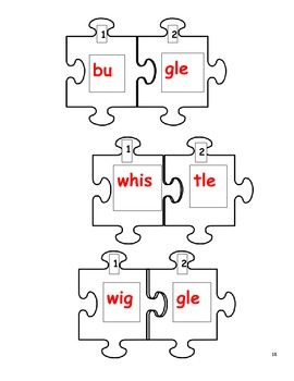 Separating Syllables! /Consonant le Words