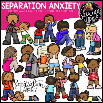 Separation Anxiety Clip Art Bundle {Educlips Clipart}
