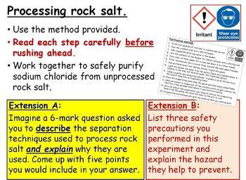 Separation Methods (including distillation) GCSE Chemistry lesson SC2b-d