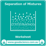 Separation of Mixtures [Worksheet and Flashcards]