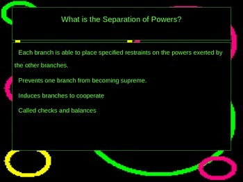 Separation of Powers PowerPoint