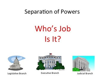 Separation of Powers - U.S. Constitution