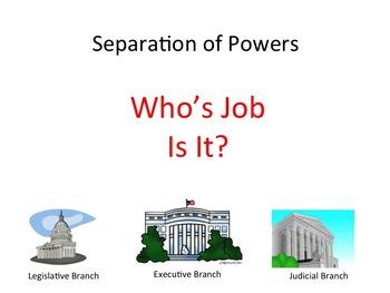Separation of Powers - U.S. Constitution