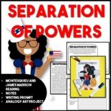Separation of Powers and Montesquieu