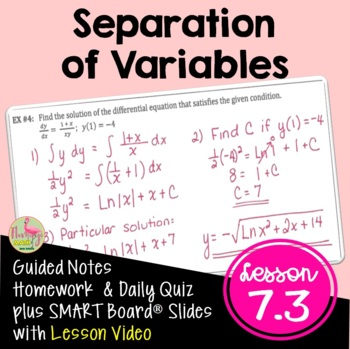 Calculus: Separation of Variables