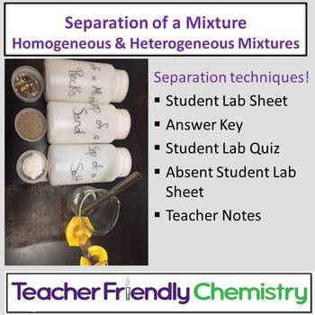 Chemistry Lab: Separation of a Mixture Lab