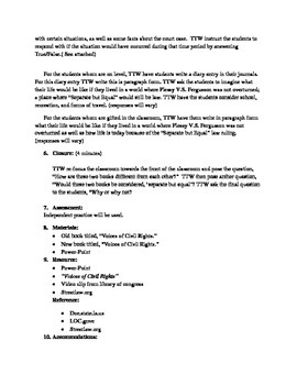 Seperate But Equal Lesson Plan CCSS