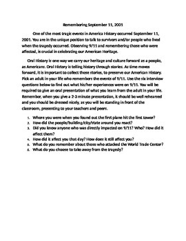 September 11: Oral History Project