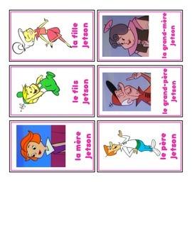 Sept familles card game - la famille