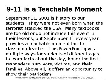 September 11, 2001 We Will Never Forget