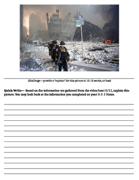 September 11: 9/11 Caption and Writing Prompt