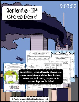 September 11 (9/11) Choice Board: Suggestions, Resources &