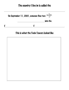 September 11 Activity Sheet for Life Skills/ABA Class