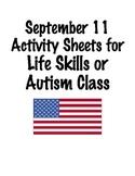 September 11 Activity Sheet for Life Skills/ABA Class