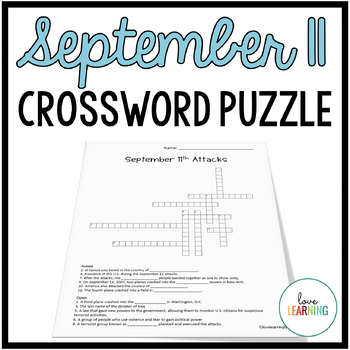 September 11 Attacks - Crossword