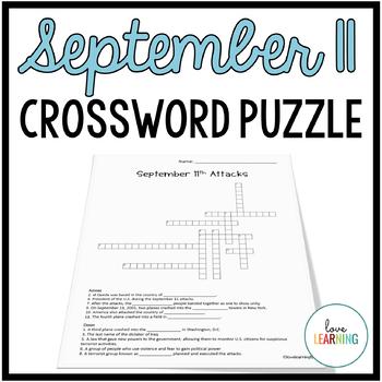 September 11 Attacks - Crossword