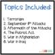 September 11 Attacks {Lesson, Scaffolded Notes, Crossword}