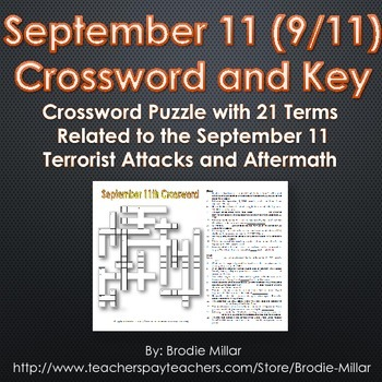 September 11 Crossword Puzzle and Key (21 Terms and Clues)