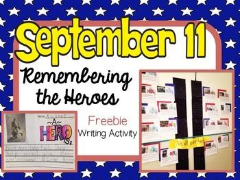 September 11 Remembering our Heroes Writing Freebie